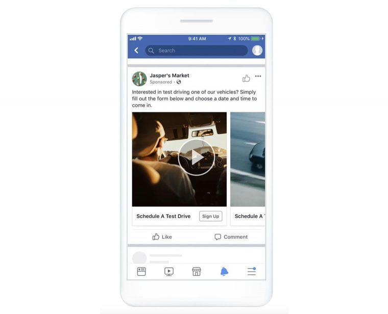 Facebook lead ads sample