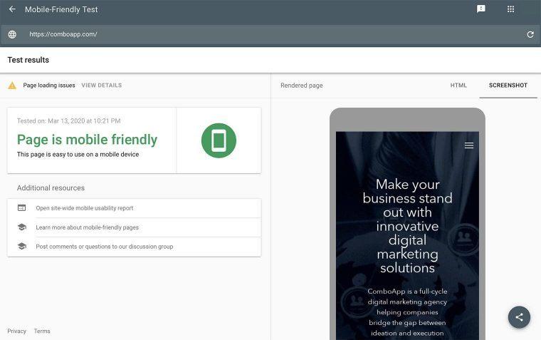 Google Mobile-Friendly Test
