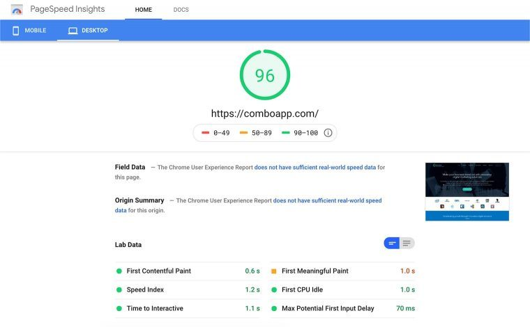 website SEO checklist includes PageSpeed optimization