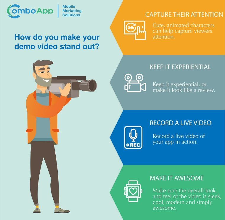 market your mobile app with a demo video
