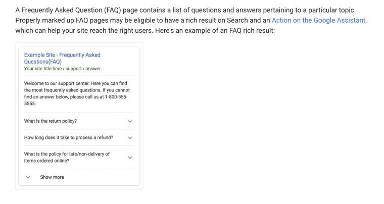how to optimize for voice search with FAQ structured data markup