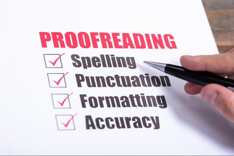 Proofread your website content for SEO
