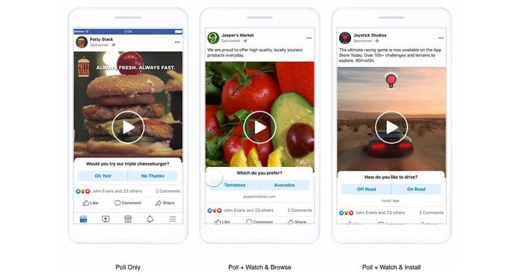 interactive Facebook ads examples